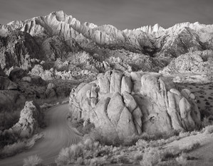 387 the sierra nevada before dawn owens valley california black and white.428.lightbox